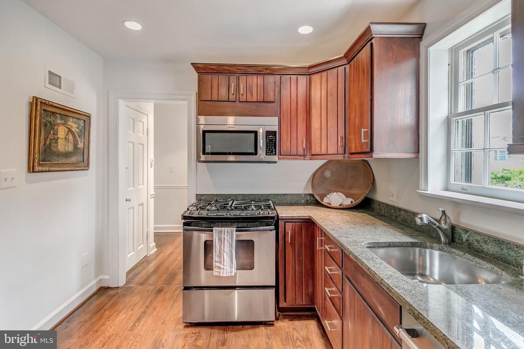 Kitchen also opens to back hallway and powder room - 7007 CONNECTICUT AVE, CHEVY CHASE