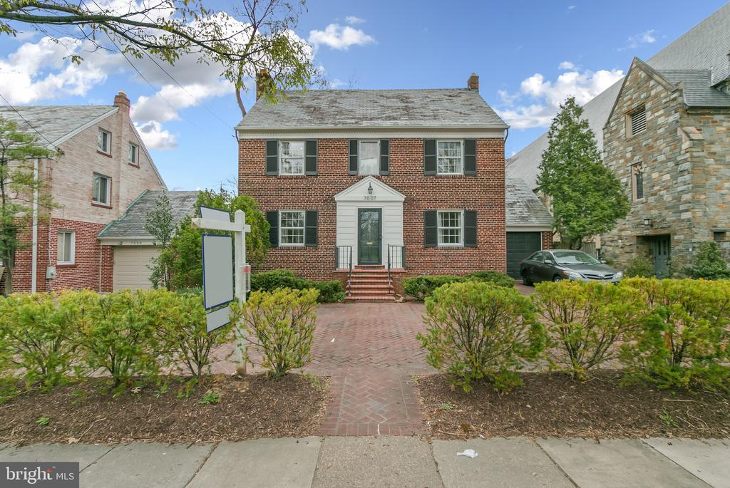 Sidewalk runs in front of the house - 7007 CONNECTICUT AVE, CHEVY CHASE