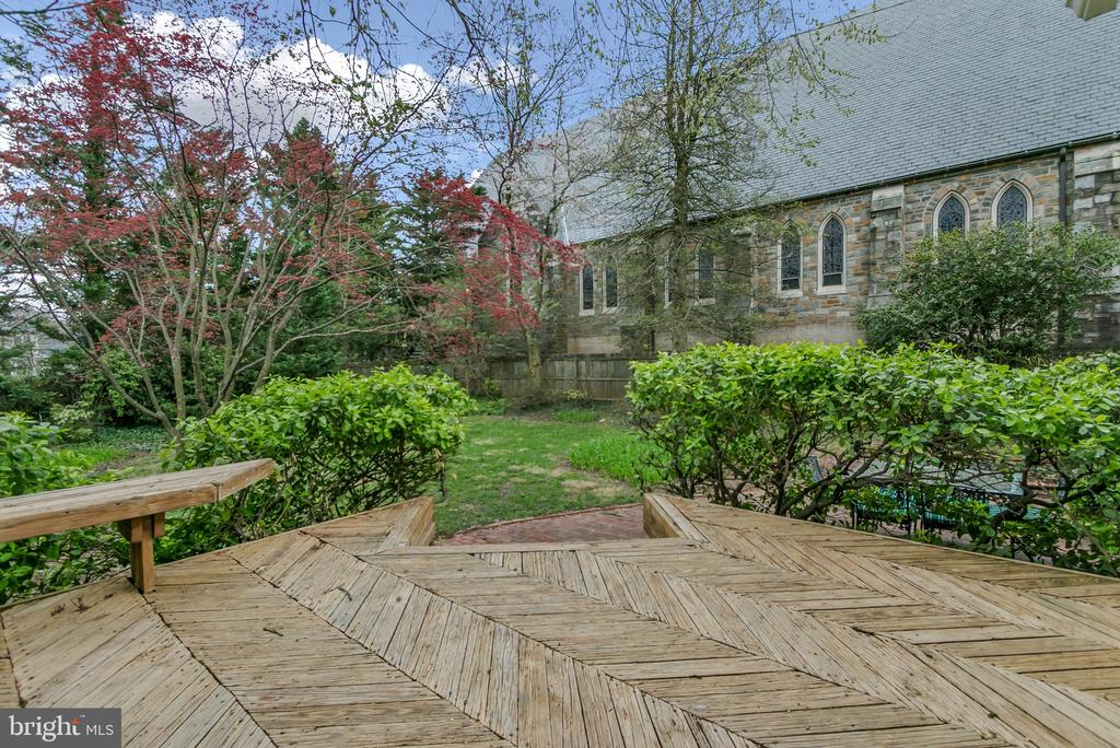 Deck overlooks large, private yard - 7007 CONNECTICUT AVE, CHEVY CHASE