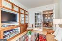 Den with french doors - 1205 N GARFIELD ST #804, ARLINGTON