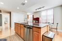 Picture of the kitchen with the back windows - 1205 N GARFIELD ST #804, ARLINGTON
