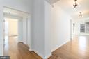 Foyer, new flooring throughout - 675 E ST NW #900, WASHINGTON