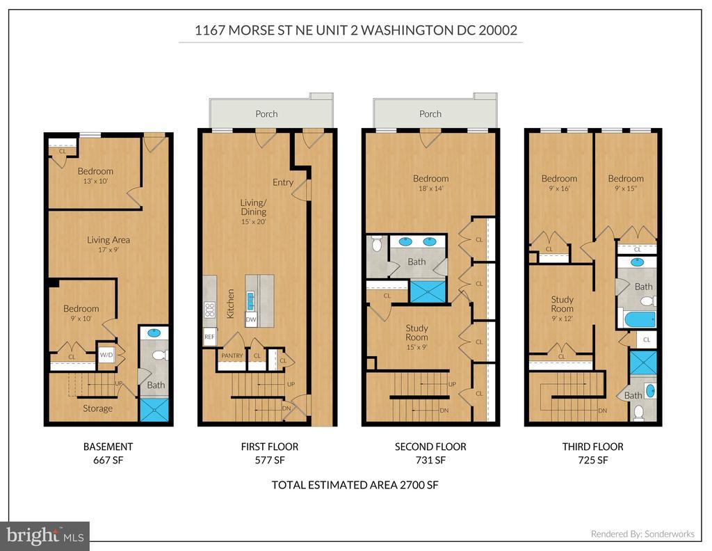 Floor Plan Unit 2 - 1167 MORSE ST NE #2, WASHINGTON