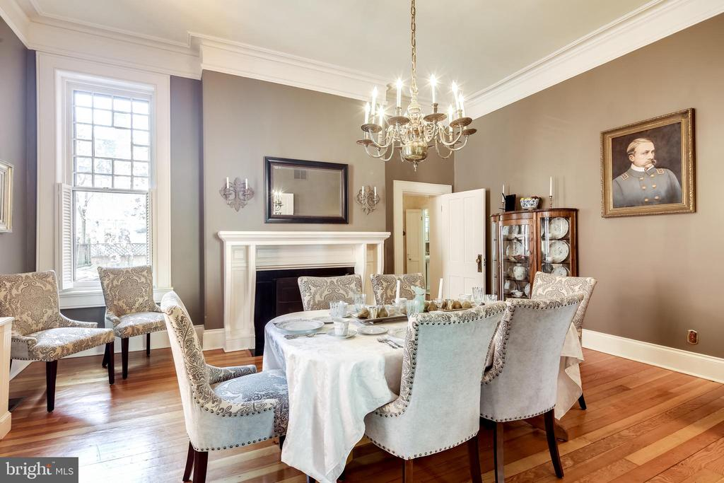 Dining Room with gas fireplace - 61 COLLEGE AVE, ANNAPOLIS