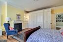 Master Bedroom with gas fireplace and built-ins - 61 COLLEGE AVE, ANNAPOLIS