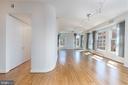 Living room, butler's pantry on left - 675 E ST NW #900, WASHINGTON
