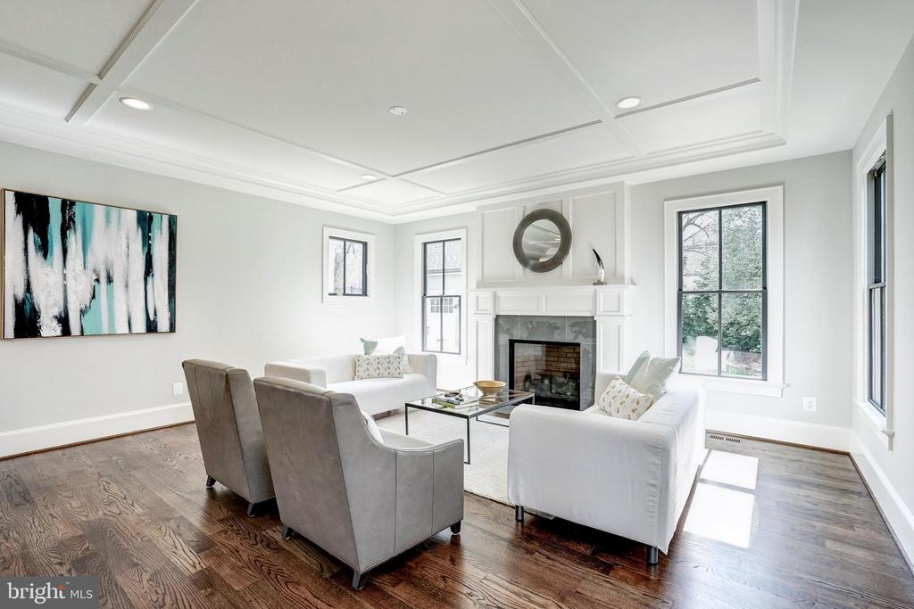 gas fireplace, wood floors, Andersen windows - 4856 33RD RD N, ARLINGTON