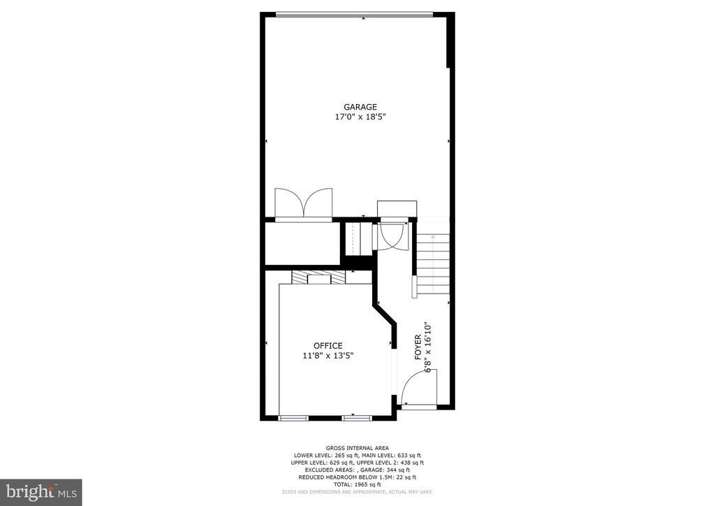 Level 1 - Study and 2 Car Garage - 308 S PAYNE ST, ALEXANDRIA
