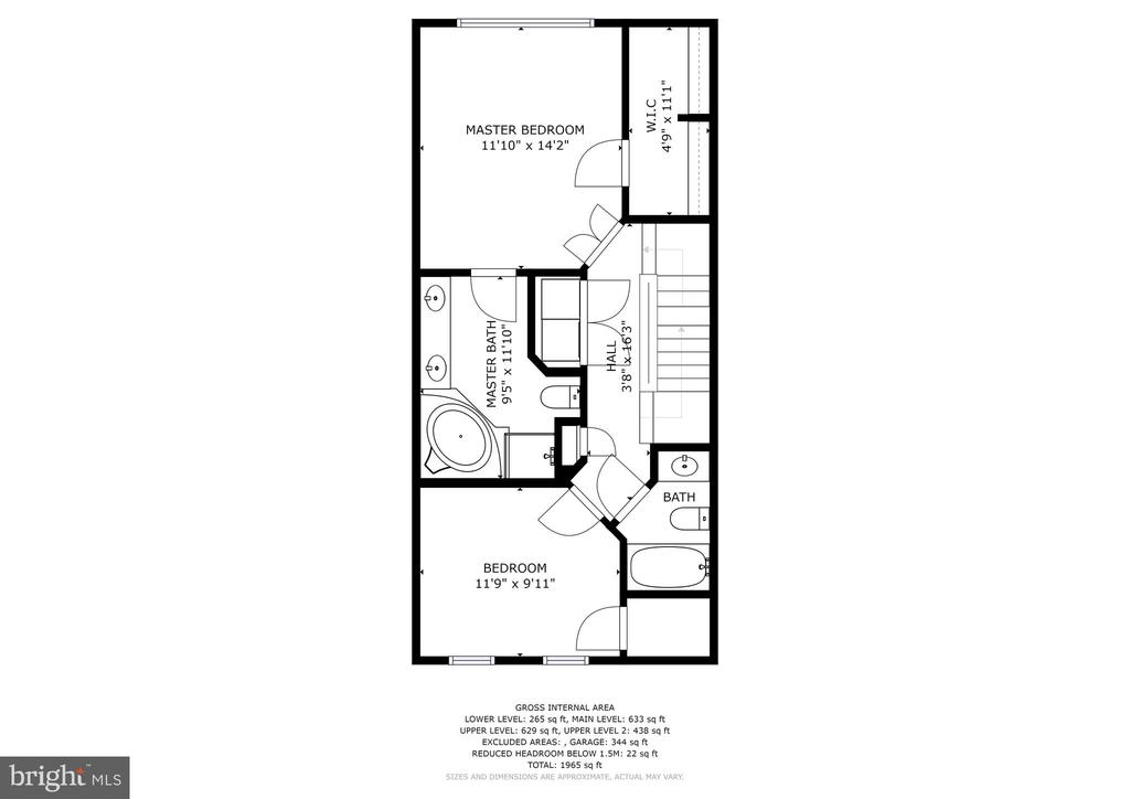 Level 3 - Master Bedroom and 2nd Bedroom - 308 S PAYNE ST, ALEXANDRIA