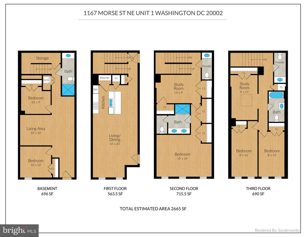 Floor Plan - Unit 1 - 1167 MORSE ST NE #1, WASHINGTON