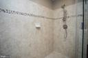 Master bath shower tile detail - 26 WAGONEERS LN, STAFFORD