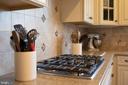 Detailed backsplash throughout kitchen area - 26 WAGONEERS LN, STAFFORD