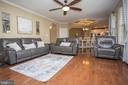 Main level living area is very open and spacious - 26 WAGONEERS LN, STAFFORD