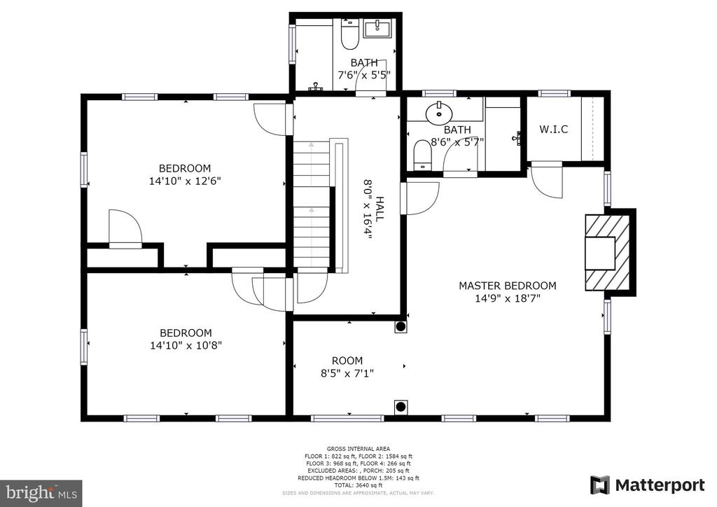 Floorplan-Upper level - 6320 BALTIMORE AVENUE, UNIVERSITY PARK