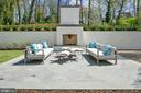 Rear Terrace/ Outdoor Fireplace - 5427 GOLDSBORO RD, BETHESDA