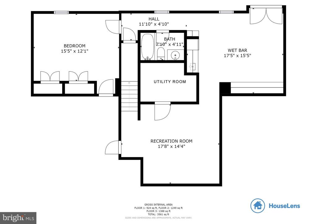 Floor Plan Basement - 6125 OLENDER PARK CT, MANASSAS