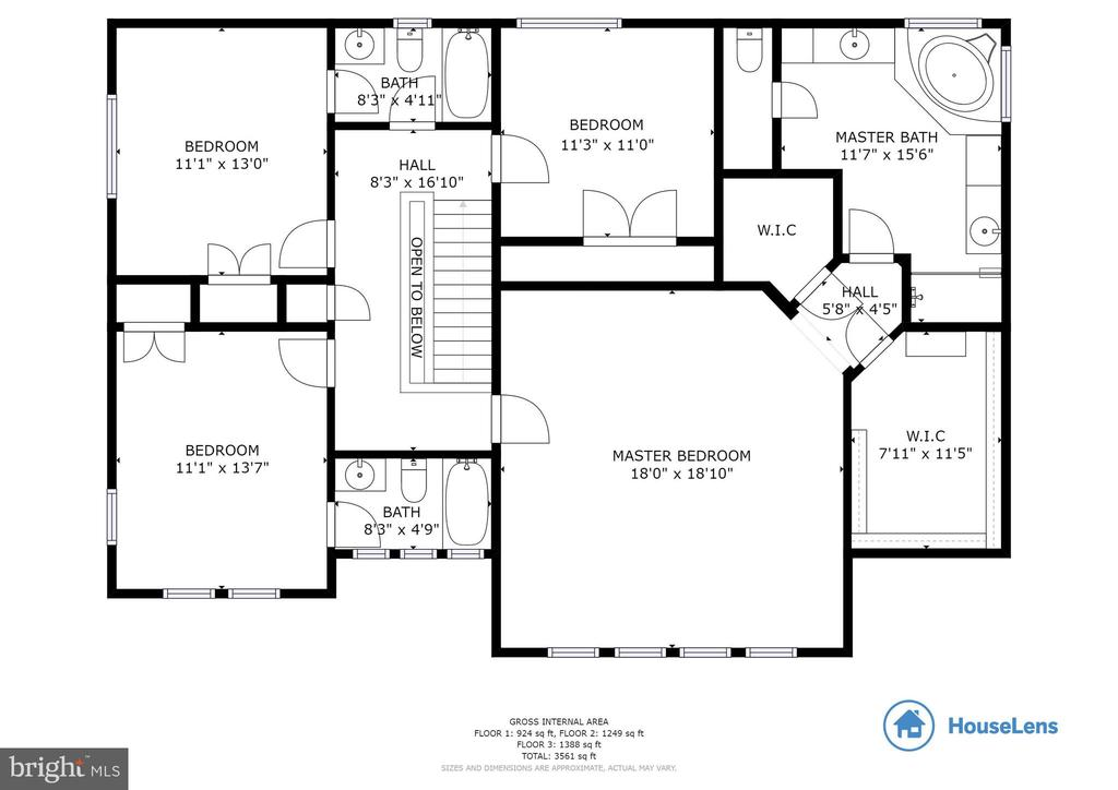 Floor Plan Upper Level - 6125 OLENDER PARK CT, MANASSAS