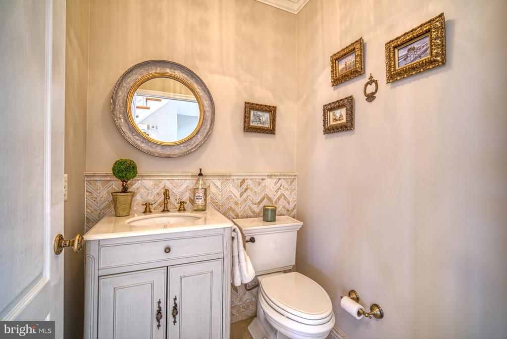 CUSTOM TILE WORK IN POWDER ROOM - 10896 HUNTER GATE WAY, RESTON