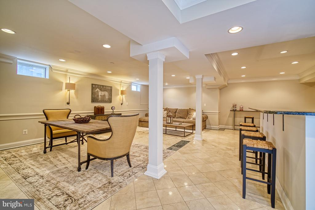 LOWER LEVEL RECREATION ROOM - 10896 HUNTER GATE WAY, RESTON