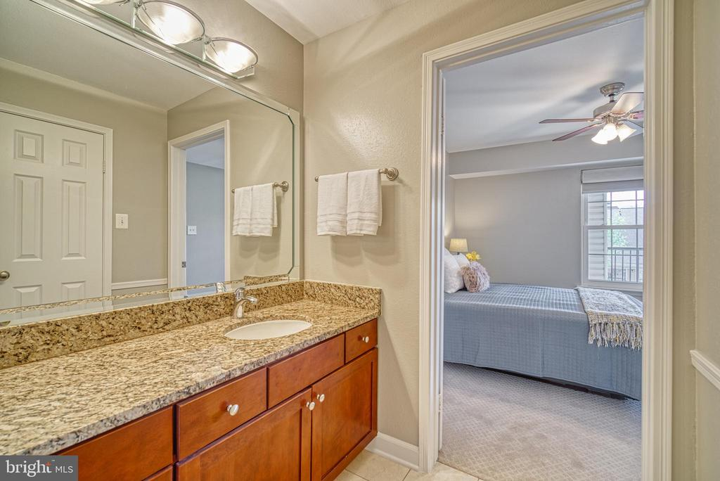 Upgraded vanity with granite counters and cabinetr - 3315 WYNDHAM CIR #4226, ALEXANDRIA