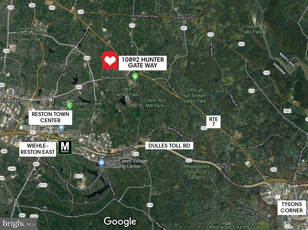 Great location:  Metro, Dulles Toll Rd, Reston TC - 10892 HUNTER GATE WAY, RESTON