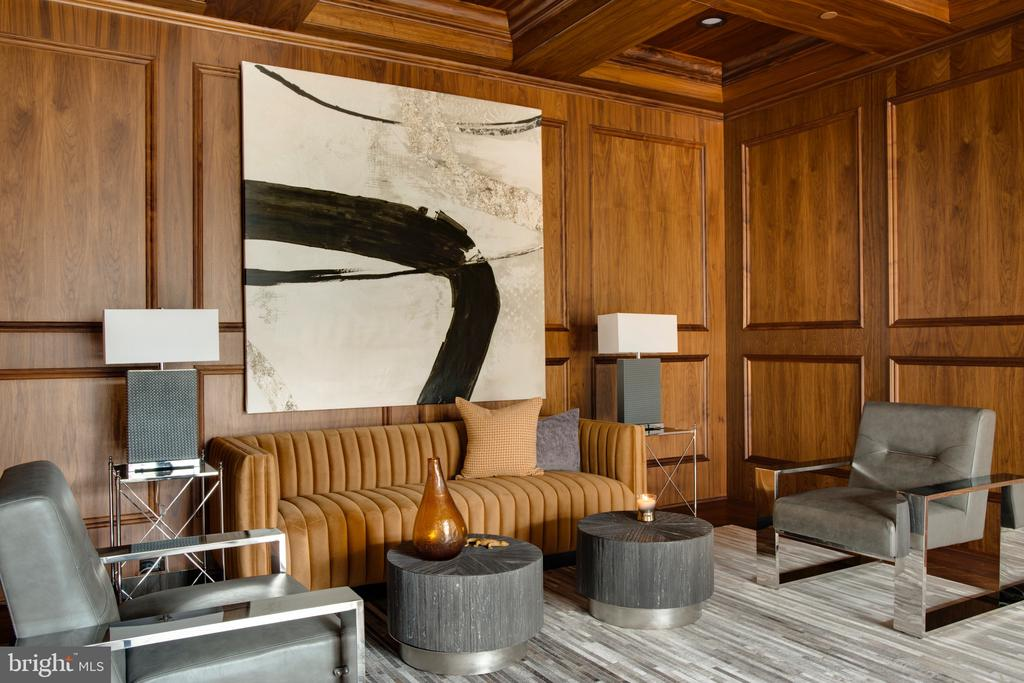 Custom milled walnut paneling - 3301 FESSENDEN ST NW, WASHINGTON