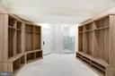 Custom lower level mud room and dog wash - 3301 FESSENDEN ST NW, WASHINGTON