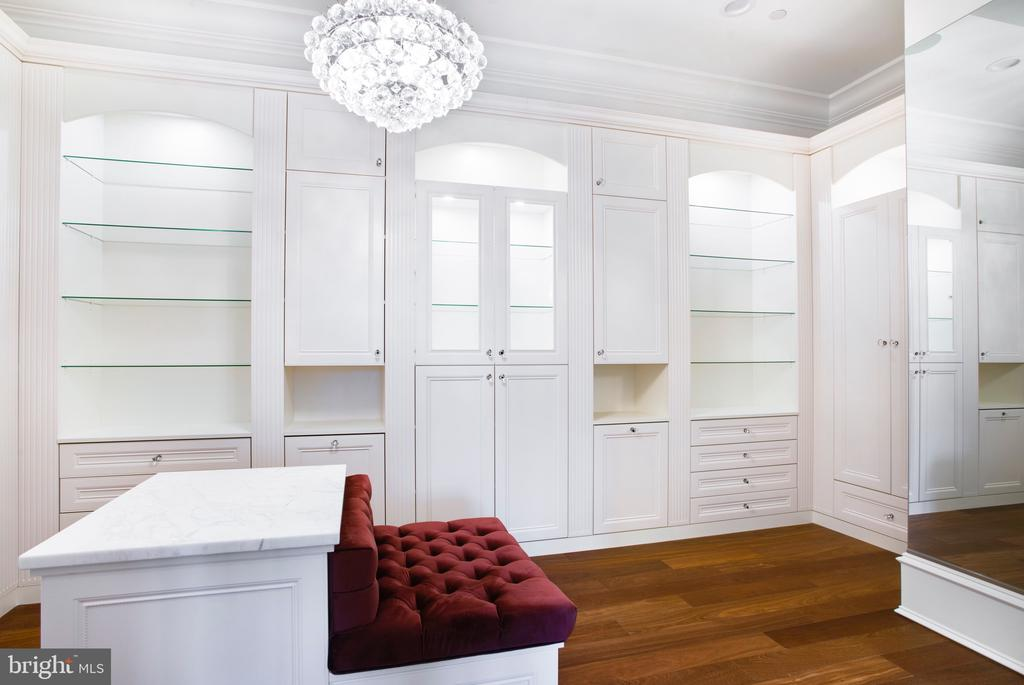 One of two custom master suite closets - 3301 FESSENDEN ST NW, WASHINGTON