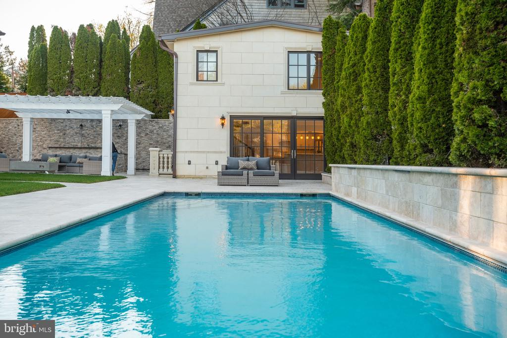 15' by 35' pool. Sheer decent wall, 3 waterfalls - 3301 FESSENDEN ST NW, WASHINGTON