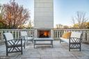 Private top level terrace with gas fireplace - 3301 FESSENDEN ST NW, WASHINGTON