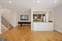Great kitchen and living space combo. - 4822 HAMPDEN LN #R-6, BETHESDA