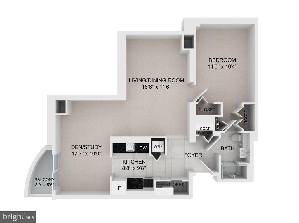 This floor plan is combined with the CARROLL - 900 N TAYLOR ST #1124, ARLINGTON