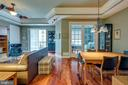 Living Room and Dining area - 1915 TOWNE CENTRE BLVD #410, ANNAPOLIS