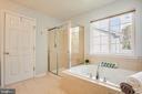 Master bath with tiled shower and soaking tub - 46 WILTSHIRE DR, STAFFORD