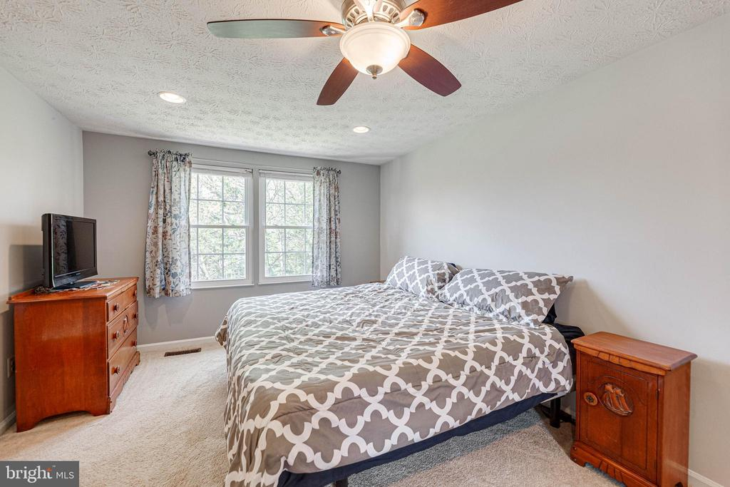 Master bedroom with fan - 12502 DARDANELLE CT, HERNDON