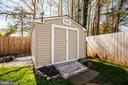 8x10 shed plus out-of-sight storage fenced behind - 6055 PONHILL DR, WOODBRIDGE