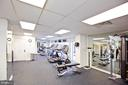 Fitness center with new equipment - 501 SLATERS LN #823, ALEXANDRIA