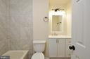 renovated hall bathroom - 8 RIDGE POINTE LN, FREDERICKSBURG