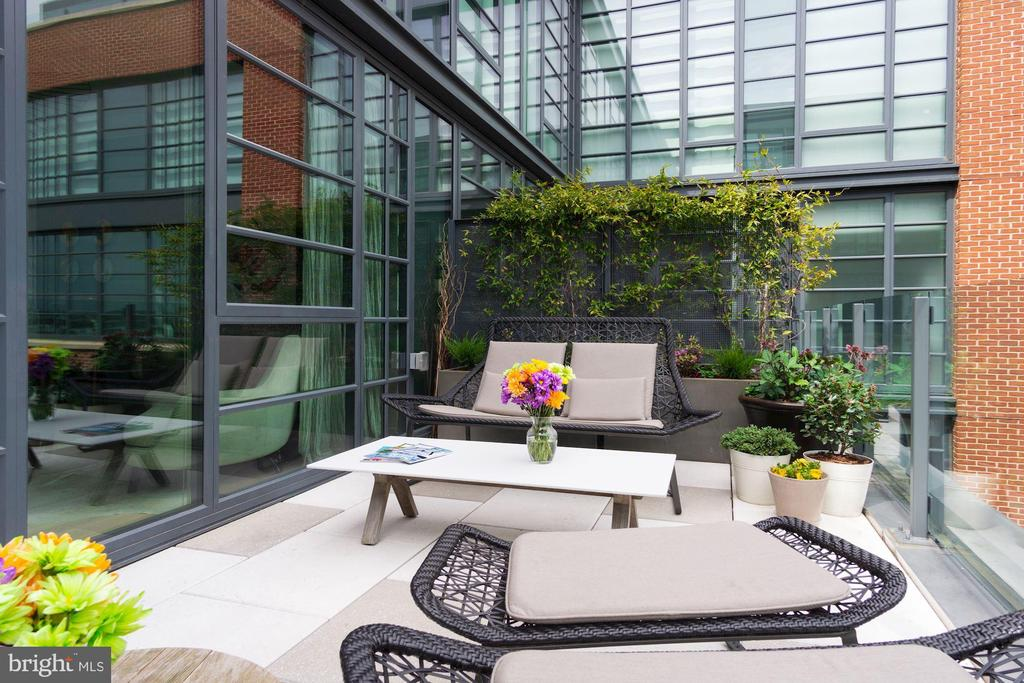 Outdoor lounge - 45 SUTTON SQ SW #1116, WASHINGTON