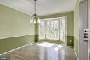 Dining room with Bay windows - 2421 MILL HEIGHTS DR, HERNDON