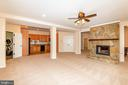 Beautiful Stone 2-Sided Fireplace - 6505 MATTHEW LN, MINERAL