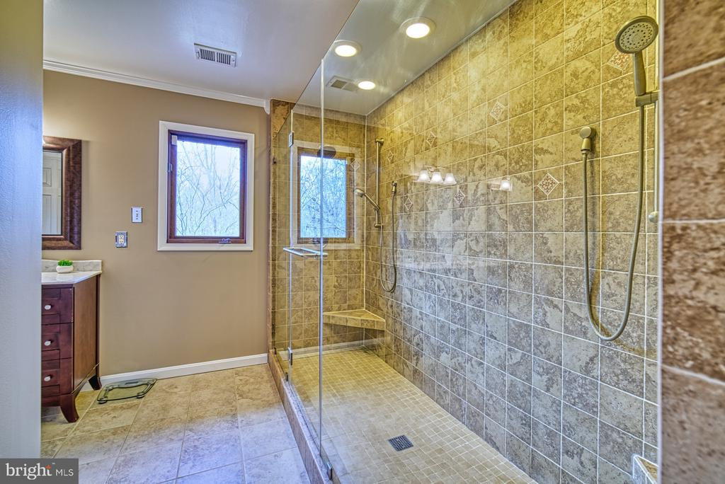 Two-person~luxury shower with frame-less glass - 10001 WISAKON TRL, MANASSAS