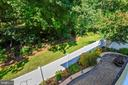 View from Deck to the Patio - 10264 GREENSPIRE DR, OAKTON
