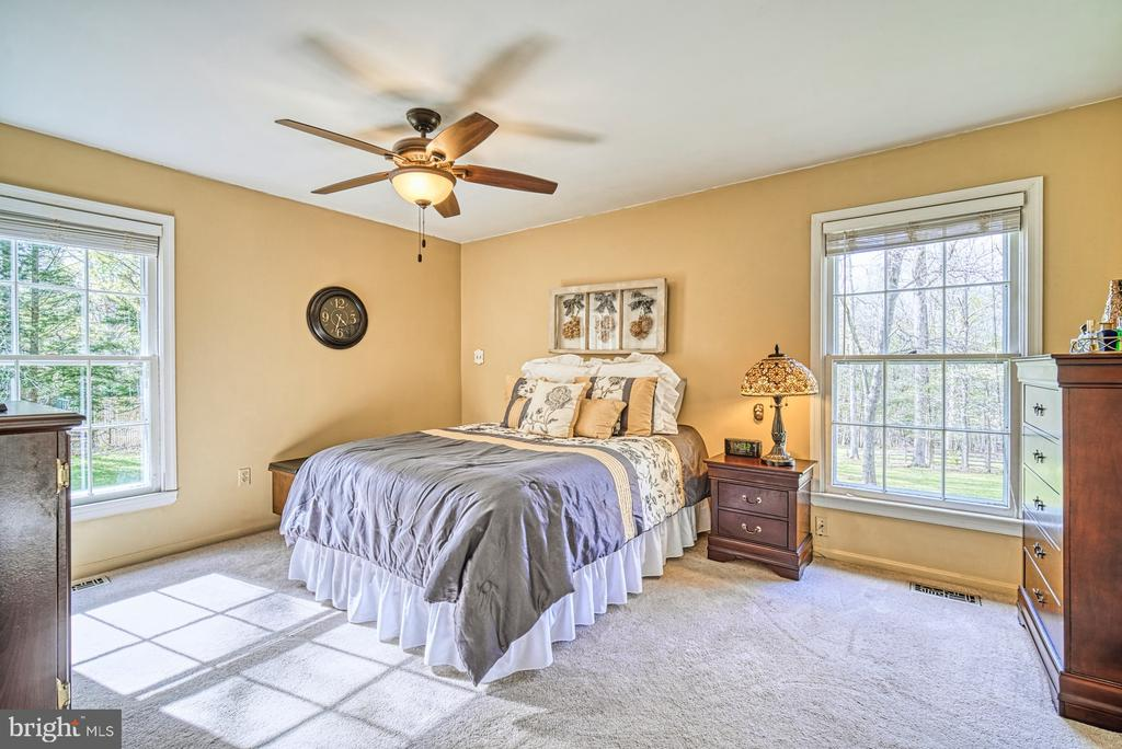 Master bedroom with views of back yard - 11610 HENDERSON RD, CLIFTON