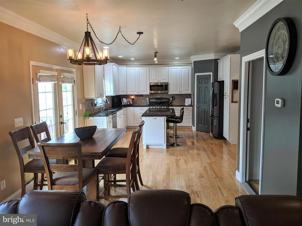 View from Family Room to Kitchen - 9301 OLD SCAGGSVILLE RD, LAUREL
