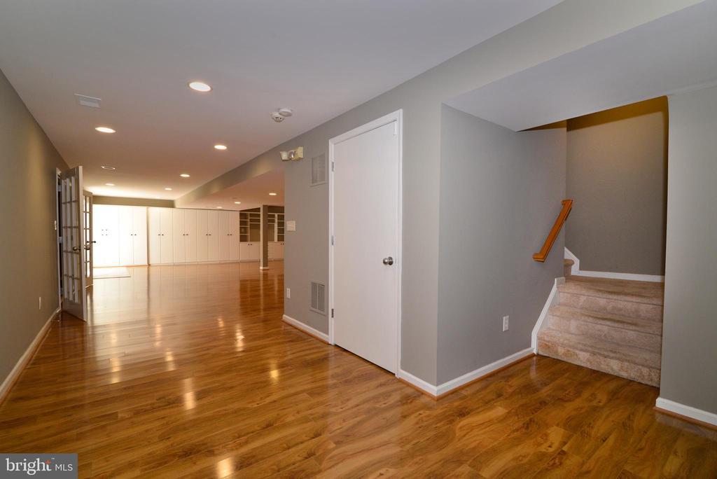 Lower level with designer flooring - 13247 MIDDLETON FARM LN, HERNDON