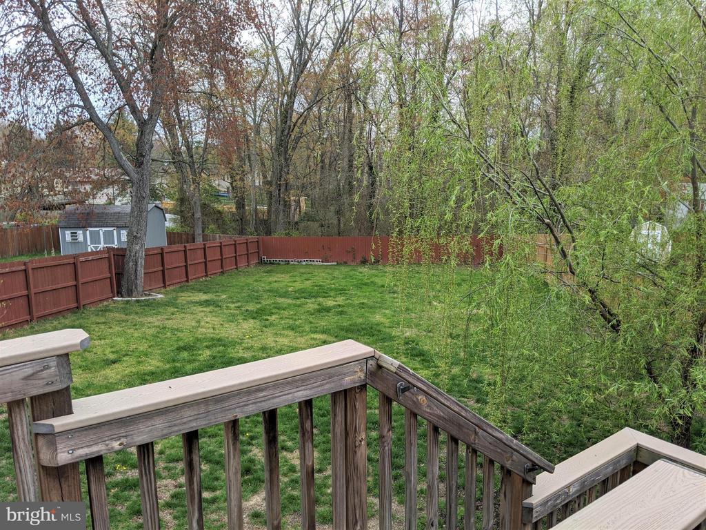 Privacy fenced backyard - 9301 OLD SCAGGSVILLE RD, LAUREL