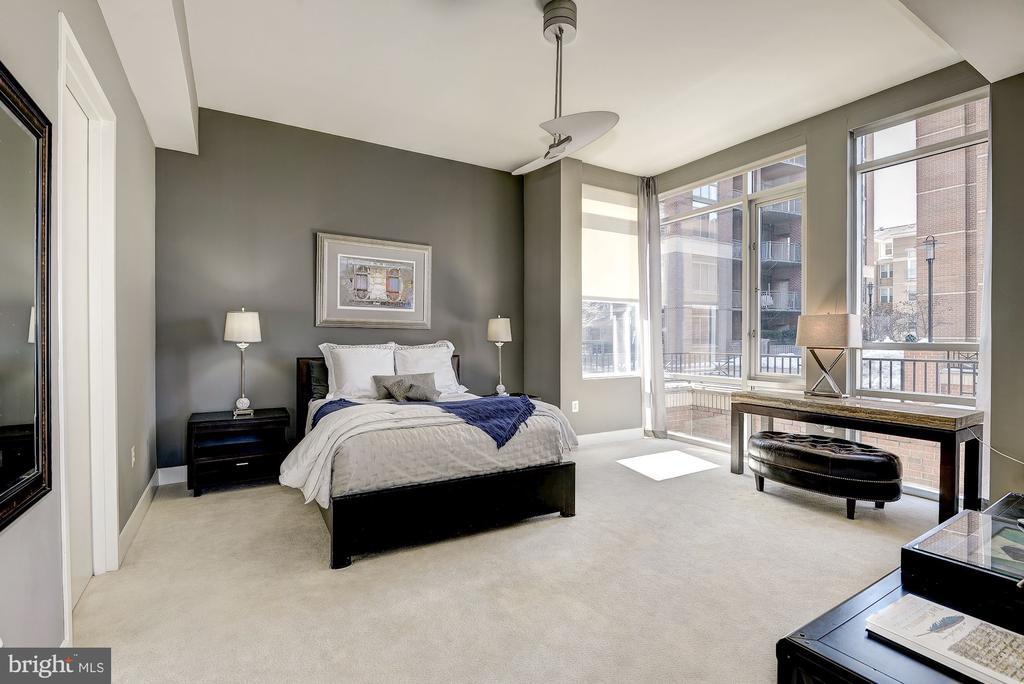 Master Bedroom w/ New Carpeting! - 12025 NEW DOMINION PKWY #103, RESTON
