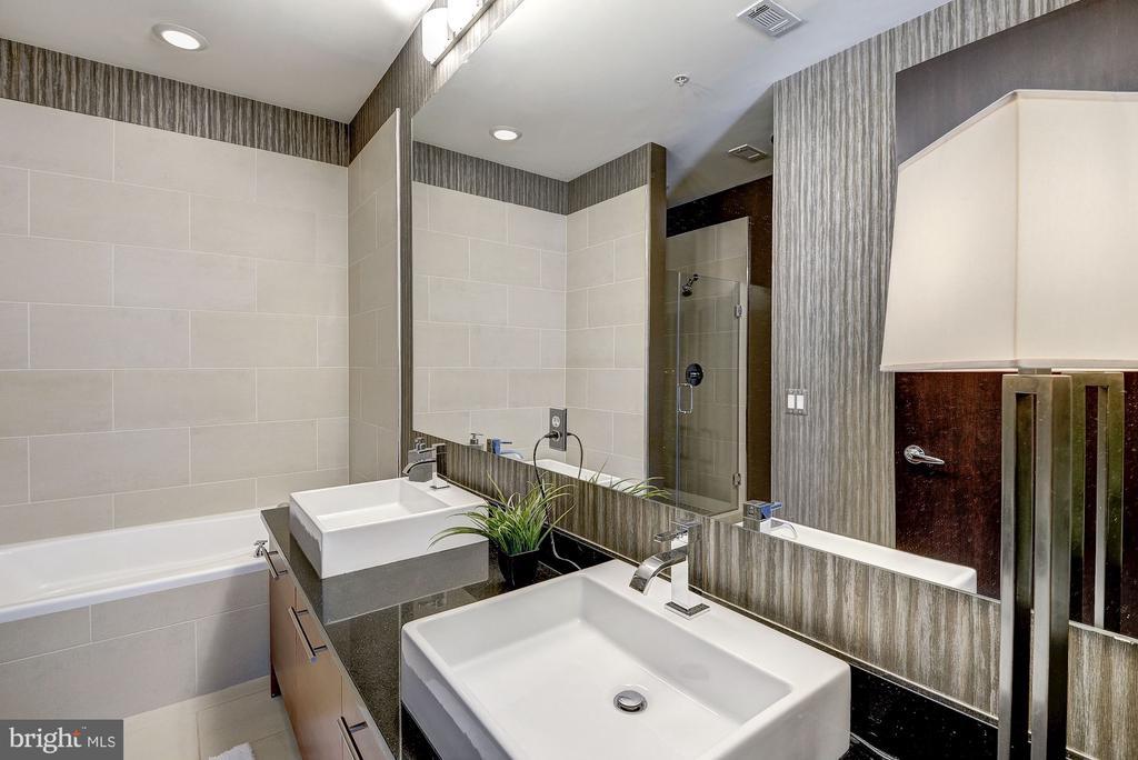 Chic baths w/floating sinks and oversized shower. - 12025 NEW DOMINION PKWY #103, RESTON