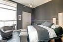 Extra Bedroom with custom Italian floor tiles. - 12025 NEW DOMINION PKWY #103, RESTON